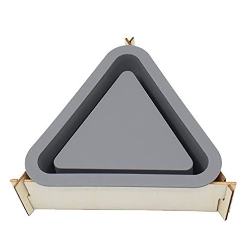 LIBRAGOLD Silicone Flower Planter Mold for Concrete Succulent Pot, Candle Container DIY, Triangle