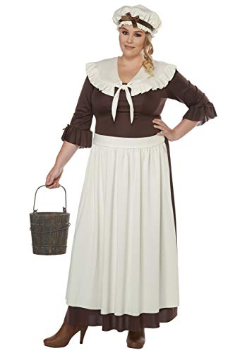 Colonial Village Woman Plus Size Fancy Dress Costume 3X