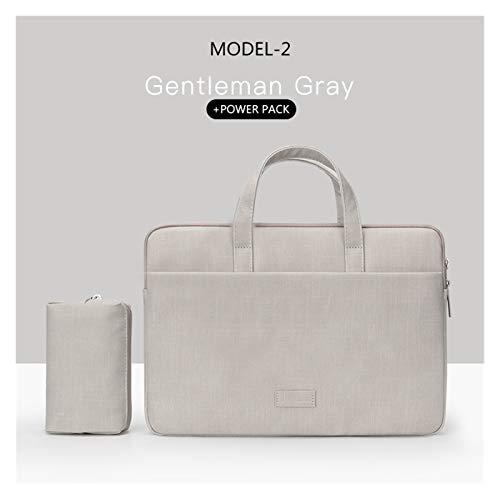 Laptop Bag Case For Macbook Air Pro Retina 13 14 15 Laptop Sleeve 15.6 Notebook Bag For Dell Acer Asus HP Business Women Handbag (Color : MODEL 2 GREY SETS, Size : 14 15INCH)