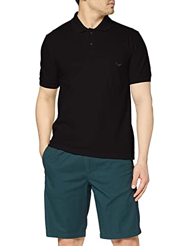 Trigema Herren Poloshirt , Schwarz (Schwarz 008) , Large