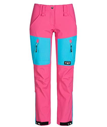 Rock Creek Damen Softshellhose Outdoor Hosen Wanderhose Sporthose Regenhose Damenhosen Outdoorhose Wasserdicht Taschen Softshell Hosen D-424 Pink M