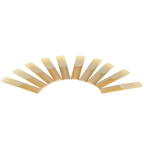 ammoon 10-pack Pieces Strength 3.0 Bamboo Reeds for Bb Tenor Saxophone Sax Accessories