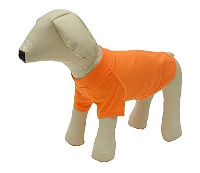 lovelonglong 2019 Pet Clothing Dog Costumes Basic Blank T-Shirt Tee Shirts for Medium Large Dogs Orange S