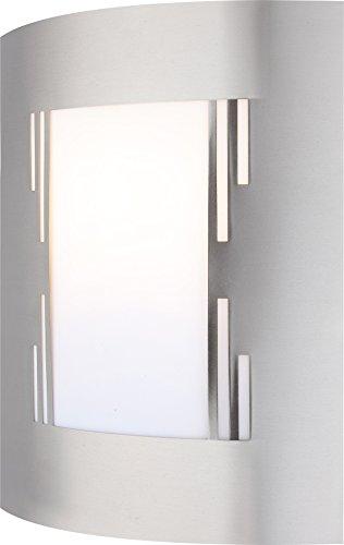 Lampe extériuere acier affiné, plastique IP44, LxLxH:230x92x290, excl. 1xE27 60W 230V