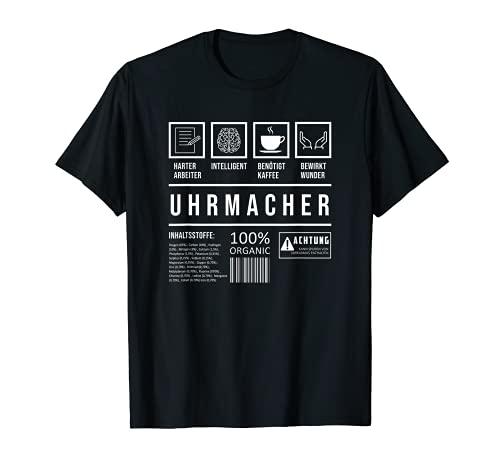 Herren Uhrmacher Lustig Spruch Uhr Schmuck T-Shirt