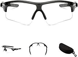CIMIKY Safety Protection Glasses, Outdoor Sports Athlete's Sunglasses Eyewear for Cycling Fishing Golf, 100% UV Protection, with Storage Box