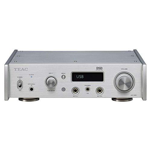 Teac UD-505 D/A-Wandler/Kopfhörerverstärker mit Bluetooth atpX HD 32Bit/768kHz und DSD512, Silber