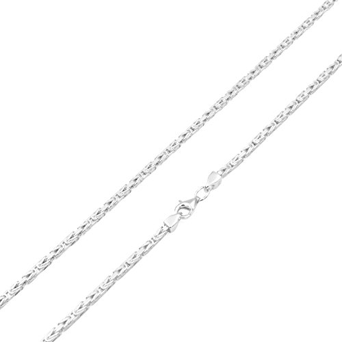 Königskette 2,2mm 925 Silber massiv - Länge Wählbar - Collier Halskette oder Armband (60)