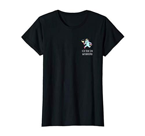 Damen WEINHORN! Ich bin ein Weißwein Wein Einhorn Süß & Dezent Fun T-Shirt
