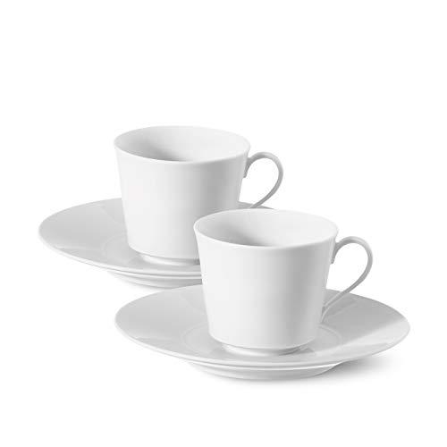 Urania Espresso-Set Porzellan von KPM Berlin - Espresso-Tassen - Porzellan-Tassen -Handmade & als Geschenk verpackt - die perfekten Espresso-Tassen für einen gelungenen Start in den Tag - Weiß