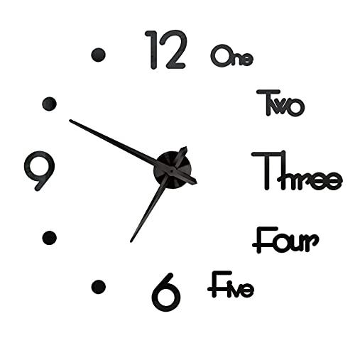 orologio da parete adesivo grande DIQC Orologio da Parete Silenzioso Preciso Fai da Te