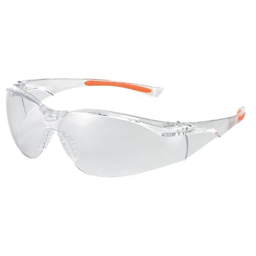 Univet 1.303 cm Nr. 1.303 cm Schutzbrille mit Glas, transparent/orange