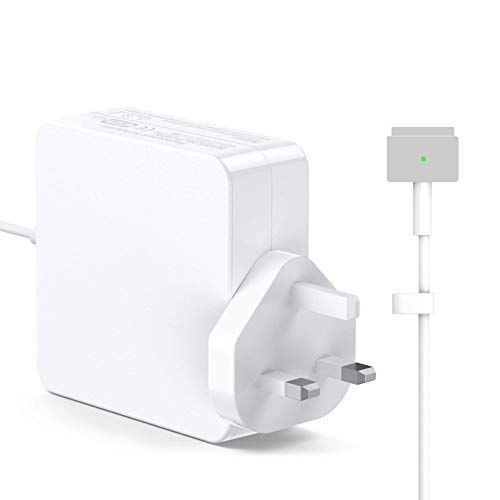 MARVELLER Compatible With MacBook Pro Charger, 60W Magsafe 2 Power Adapter AC T-Tip Connector Charger Replacement for MacBook Pro/Air 13' & 15' & 17' inch 2012 Late A1435 A1502