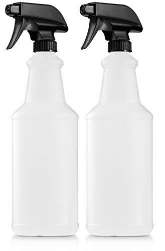 BAR5F Plastic Spray Bottles, 32 Ounce, HDPE, CarafGgrip, All Purpose, N7 Sprayer - Spray/Stream/Off, Pack of 2