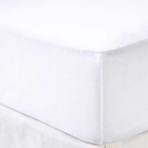 Tex - Sábana Bajera Ajustable Cama 135 cm Blanco