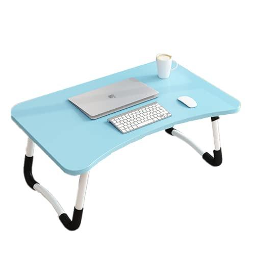 Mesa de Ordenador portátil para Cama y sofá, Soporte para Ordenador portátil, Mesa Plegable, portátil, Bandeja de Desayuno Mesa de Cama multifunción (Azul)