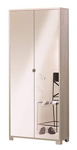 Sarmog Kit Armadio 2 Ante con Specchio Frontale Incluso H190 L83 P29 Cm Finitura Olmo 747spk