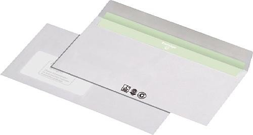 Unipapel 227540 Briefumschlag DL, Produktion mit Ökostrom, Druck mit Ökofarben, wasserlösliche Leime, weiß
