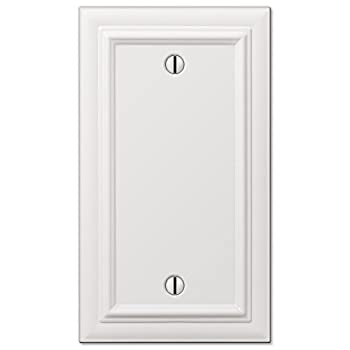 AMERELLE 94BW Continental Single Blank Cast Metal Wallplate in White