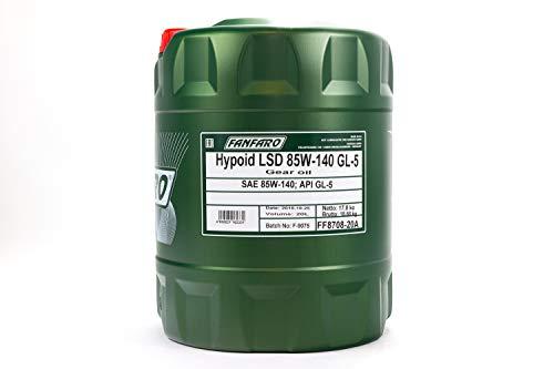 1 x 20L FANFARO LSD 85W-140 GL-5 Limited Slip / LKW Getriebe-Öl MIL-L-2105 D
