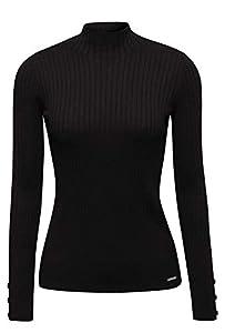 ESPRIT Damen 129Ee1I003 Pullover, Schwarz (Black 001), Small (Herstellergröße:S)