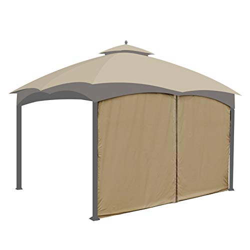 Gazebo Universal Replacement Privacy Curtain - Gafrem Canopy Panel Side Wall fits 10ft Gazebos (Khaki)