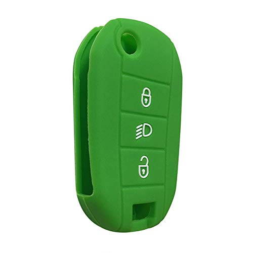 Funda para llave de coche, carcasa para llave de coche, compatible con Citroen C4L, C4, Picasso C5, C7, C3, 2008, Rcz 508, Chiave Cactus 308, Xsara, verde