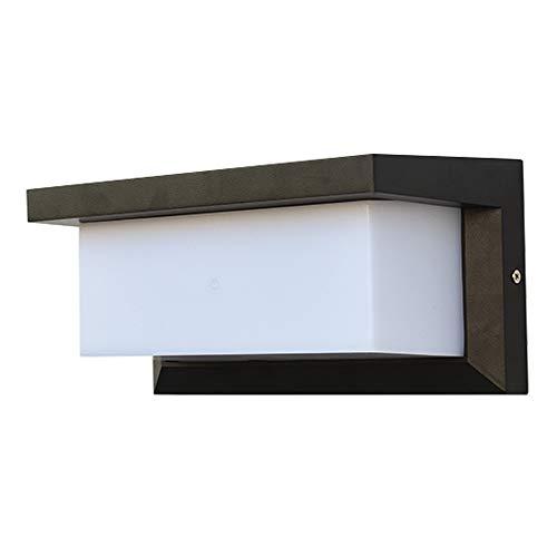 Modo Lighting - Lámpara de pared para exteriores (15 W, 3000 K, LED, resistente al agua), color negro mate