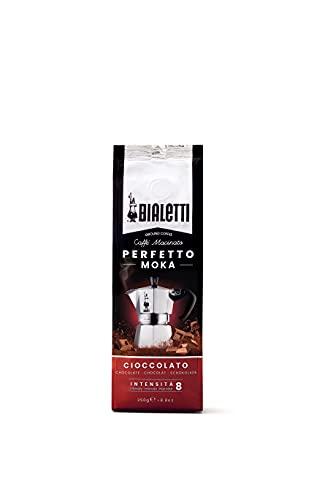 Bialetti Perfetto Moka Caffè Macinato, Gusto Cioccolato - 1 x 250 gr