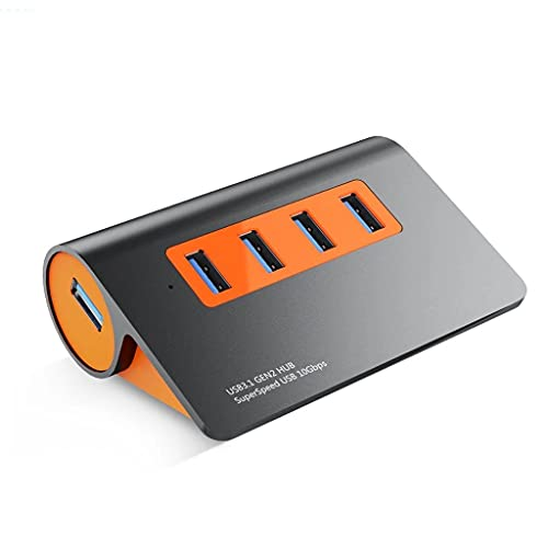 GZQDX Convertidor de Interfaz múltiple, USB3.1 HUB GEN2 Aluminio USB HUB PC DIPTOR 10GBPS Super Speed