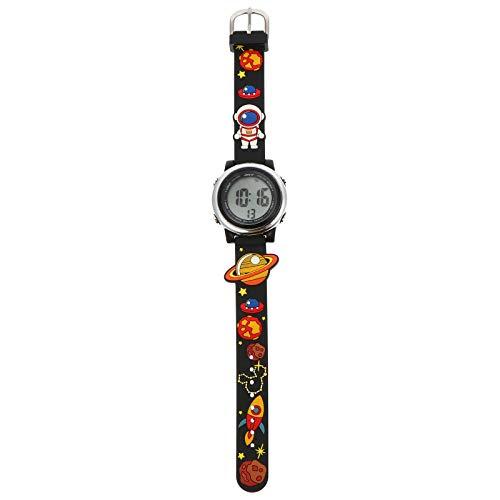 Abaodam Reloj de pulsera eléctrico impermeable multifuncional de los deportes LED para las fuentes del estudiante del niño