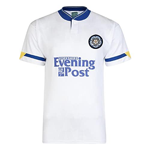 Score Draw Herren Leeds United 1992 Heim Trikot Kurzarm Weiß M