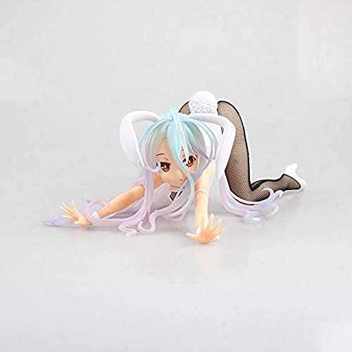 No Juego Ninguna Vida Shiro Rabbit White 1/4 PVC Hardware Anime Figure Modelo en Caja Estatua de Regalo de Juguete