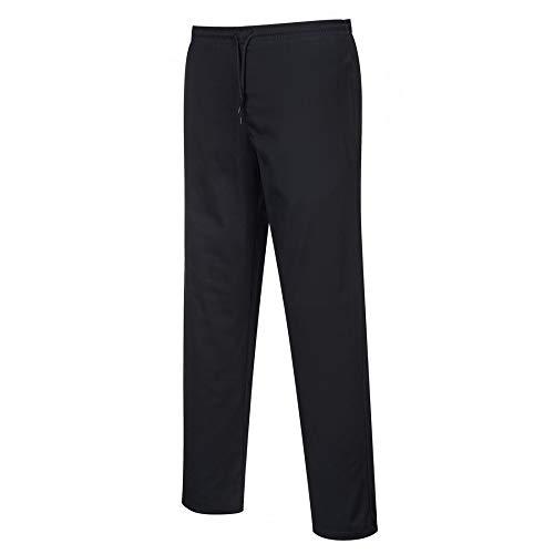 Carbonn A1000 - Pantalones de cocina elásticos Negro XXS
