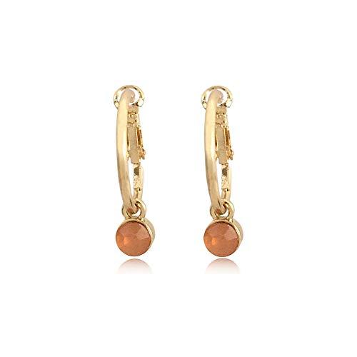 Corea Orecchini Per Donne Matrimonio Accessori Piccolo Oro Colore Cerchio Orecchini Moda Acrilico Pietra Pendente Orecchini 27mm