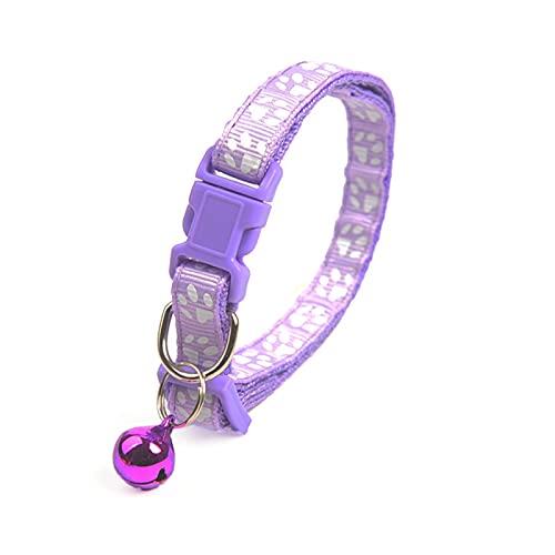 JHGJHG 1pc Lindo Collar de Campana para Gatos Collar de Perro Peluche bomeo Perro Dibujos Animados Divertido Huella Collares Conduce Accesorios para Gatos Productos de Animales