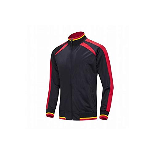 Voetbal training kleding lente mannen en vrouwen zwarte trui, kinderen sport pak fitness training voetbal training kleding polyester polyester materiaal (S-3XL)