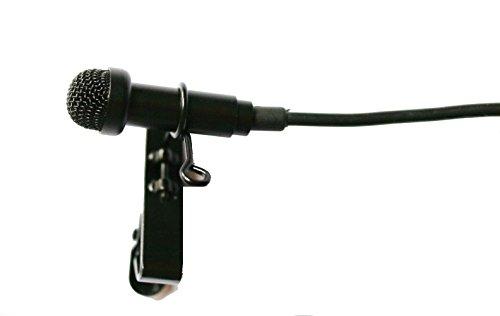 Waller PAA Lavalier-Ansteckmikrofon für Sennheiser EW G1 G2 G3 + Metallkappe, Schwarz