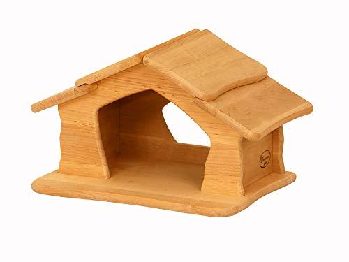 Erst-Holz Krippe Holzstall Holzhaus Holzhäuschen von Drewart Spielhaus 935-4046