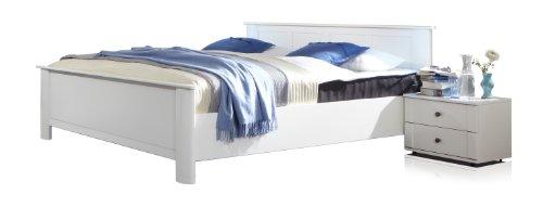Wimex Schlafzimmer Set mit Bett, Nachttisch/ Nachtschrank 2-er Set Chalet, Liegefläche 180x200 cm, Weiß