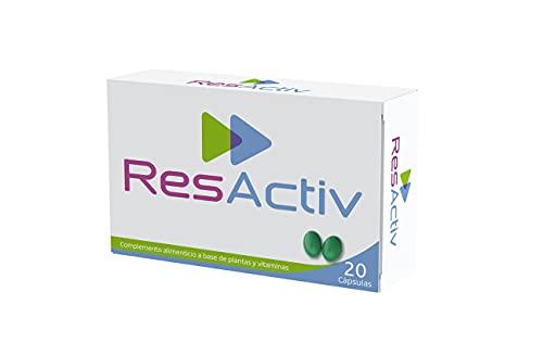 ResActiv - 20 cápsulas - Complemento Alimenticio Natural | Ayuda a prevenir la resaca y protege tu hígado | Contiene Antioxidantes y Cardo Mariano | ANTICÍPATE Y MANTENTE ACTIVO