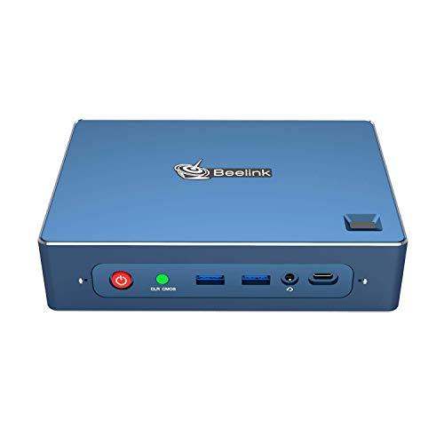 Beelink GT-R Mini PC; AMD Ryzen 5 CPU; 32 GB RAM, 1 TB NVMe SSD; Quad-Monitorausgang; USB-C-Unterstützung; Hi-Fi 3,5 mm Audio; Fingerabdruckleser; integriertes Mikrofon [GT-R-32/1]