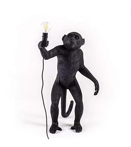 Seletti Lampe singe en résine 60 x 52,5 x 33 cm noir