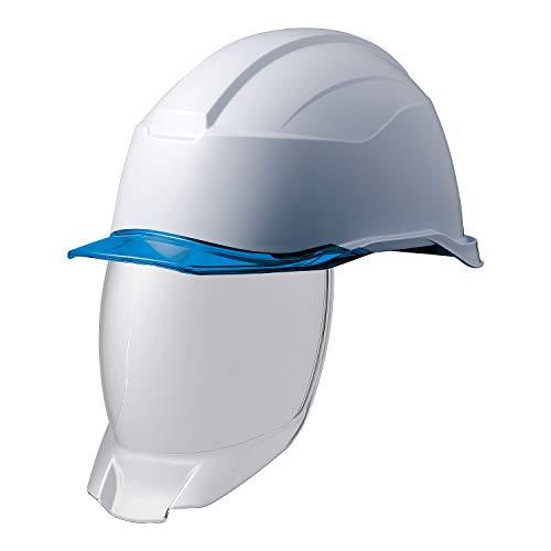 ミドリ安全 ヘルメット 作業用 PC製 シールド面 クリアバイザー SC21PCLS RA3 KP付 侍II ホワイト ブルー
