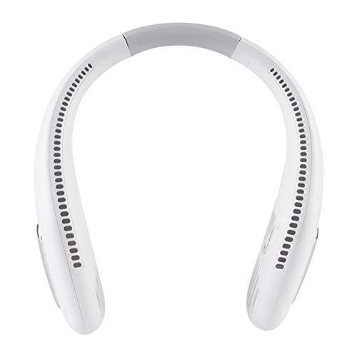 DISSURE Ventilador de cuello sin cuchilla, portátil con manos libres, USB recargable con 3 velocidades de viento, ventilador personal portátil para exteriores y interiores