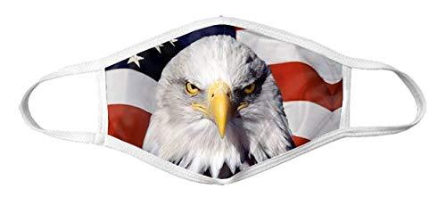 American Flag Mask - Bald Eagle Mask Reusable by Shinesty, OSFA American Flag Face Mask