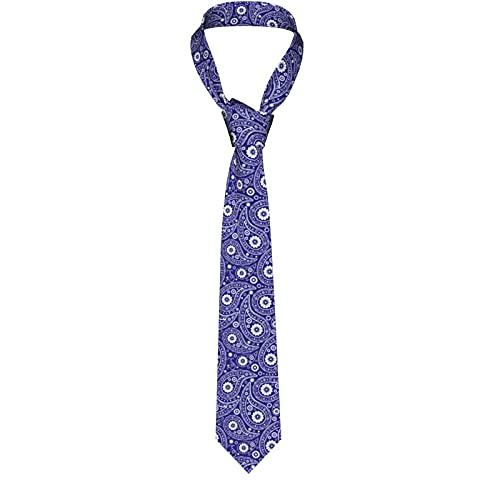 Men'S Necktie Blue Paisley Creative Casual Tie Gift Neck Ties