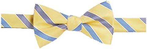 Bow Tie Tuesday Mens Stripe Pre-tied Adjustable Bowtie Tie, Yellow