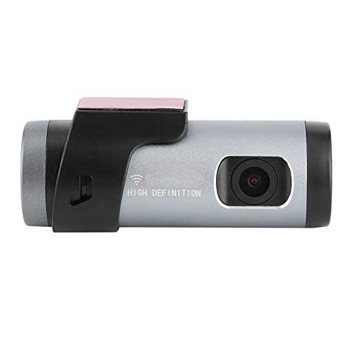 Qiilu Dash Camera, 1080P ABS HD Grabadora de conducción Vista Nocturna WiFi Dash Camera Car DVR App Control de Voz