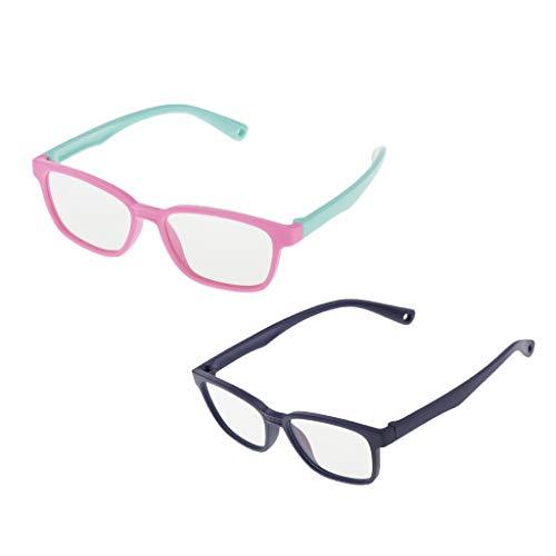 Colcolo 2X Gafas para Niños Anti Blue Light UV400 Softframe Gafas de Ordenador